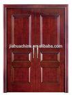 exterior or interior yongkang double doors mahogany solid wooden door with ce and iso certificate