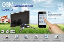 Mini & Attractive Security system & GSM alarm security system via GSM network for house/office