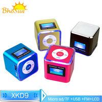 "1.4"" LCD Digital Portable FM Mini Speaker with Micro TF/SD card USB Flash Drive"