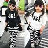 M40486A 2014 new leisure cute dog design children clothes set