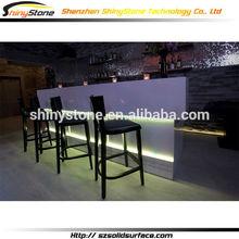 Top class luxury modern look corian bar counter