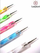 2014 hot sale Ladybird Acrylic Handle Two Way Use Nail Art decoration Brush Dotting Pen/nail painting pen