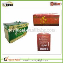 Custom Made Honey/Sweet Packaging Box with Handle