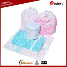 Large capacity nylon mesh laundry bag