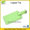 Self adhesive airline pu luggage tags