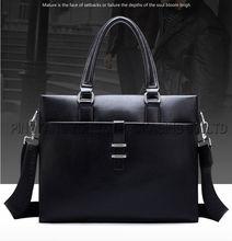 men PU leather bag cheap price tote bag leather bag black handbag
