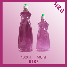 B187 1000ml 500ml plastic liquid detergent bottle;laundry detergent bottle