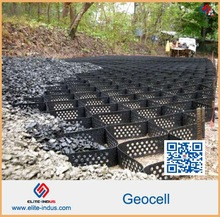 Prevention of landslide by using geocells