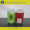 high quality colored glass spice jar with stainless steel lid