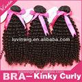 comparar los favoritos brasileño virgen del pelo humano extensiones de enrollamiento rizado dropshipping negro natural