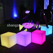Cube sharp illuminated outdoor table