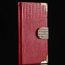 Luxury Leather Flip Rhinestone Case For Samsung Galaxy S4 I9500 RCD00390