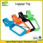Plastic soft pvc travel luggage tag