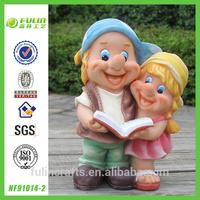 "9"" Small Resin Gnome Couple House Design"
