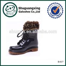 camo rain boots for women waterproof rain boot covers warm/B-817