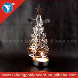 Modern Romatic Metallic Lantern OEM Personalized Drum Spining Metal Candle Holders