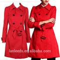 de la mujer rouge trinchera abrigo