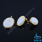 Gold plated earrings set high quality jewelry set Cheap pearl necklace jewelry