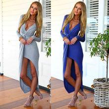 Long sleeve fashion club party wear sexy open slim dress open breast dress SV006987