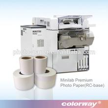 Amazing print quality inkjet dry minilab photo paper for fuji Frontier DL 650 Inkjet minilab printers