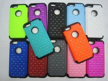 Hybrid impact robot silicone pc shining cover case for iphone 6