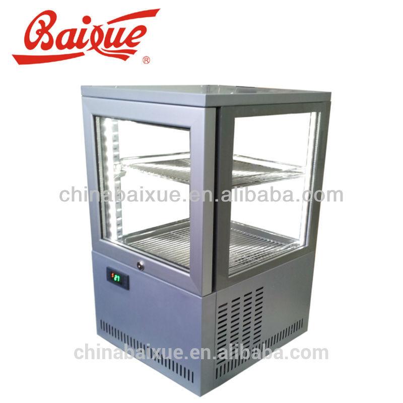Commercial Beverage Refrigerator Glass Door 4 Side Glass Door Beverage