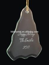 popular shape Christmas laser engrave glass ornament