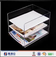 Yageli Customer Design Office Use Acrylic Book Display / Leaflet Hold /Bochure Hold