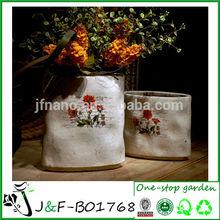 Retro decoración del hogar de cerámica arreglo floral