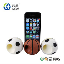 NEWEST DESIGN Basketball shape silicone horn speakers for iphone/sales promotion gift silicone Amplifier for iphone5/5c/5s