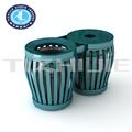 Grande grau escolar suitble ferro lixo pode, tizhijie novo design de equipamento de aço bin para o exterior, popular lixo publicidade pode