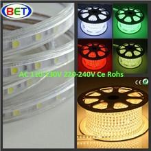 110v&220v factory ce rohs cuttable led light 5050 & 5630 2400k warm white led rope lights walmart