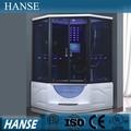 Negro de hidromasaje masaje ducha cubículo, cabina de ducha para 2 personas hs-sr033