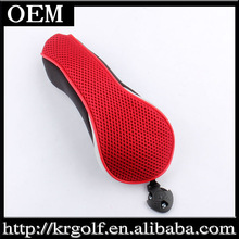 Custom made New Mesh Surface Red and Black Golf Club Hybrid/UT/Rescue Head Cover Case Headcover