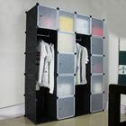 Hot sale model in Europe Black pattern large size wardrobe (FH-AL0063-12)