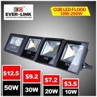New Style LED Flood Light CE Rohs Approved IP65 High CREE/Epistar/Bridgelux led street light partes