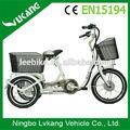 2015 cesta de carga 3 roda bicicletaelétrica fornecedores