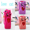 Lovely 3D Tom Cat Cartoon Silicone Case for Iphone 4/ 4S