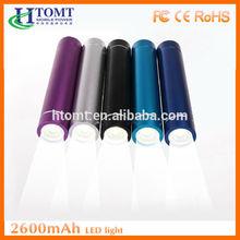 buona qualità del tubo ferrari cellulare caricabatteria banca 2600mah con led torcia