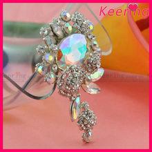 wholesale fashion new arrival AB color crystal rhinestone pin custom brooch WBR-1471