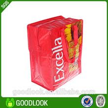 Waterproof foldable zipper tote bag