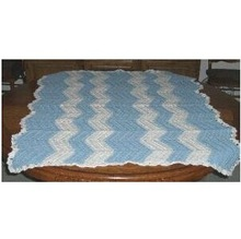 Handmade Baby Blanket, Blue & White Quality you can see Machine wash and dry