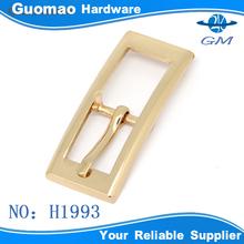 Elegant rectangle design leather plated buckle