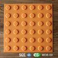 tpu soft pvc borracha chão do banheiro tactiles com 300mm comprimento do lado