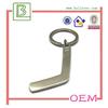 custom printing logo silver metal hockey keychain