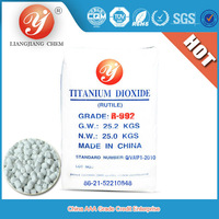 Hot Sale rutile titanium dioxide R992 nano tio2 spray