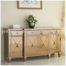 new fashion console table dressing table glass furniture mirrored bedside table mirrored desk mirrored furniture-am