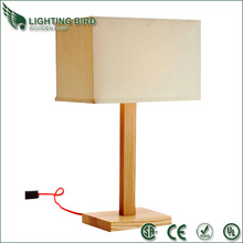 2014 New design wood lamp rechargeable portable folded LED table lamp