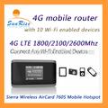 4g lte roteador wifi desbloqueado aircard serra com slot para cartão sim suportar 10 usuários compartilhar hotspot wi-fi