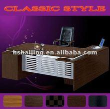 carved wood and leather desk sets